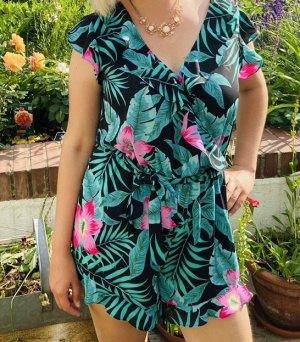 Jumpsuit kurz floraler Print schwarz|grün|pink -Pepe Jeans-