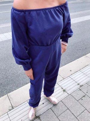 Jumpsuit Lila Neu Carmen Langarm Sweater Look Gr L/XL