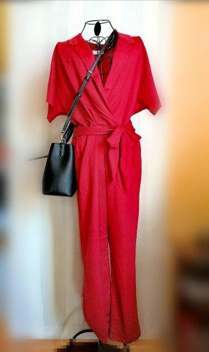 Mango Langer Jumpsuit rosso scuro