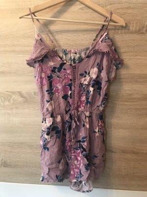 Charlotte Russe Kurzer Jumpsuit mauve-pink