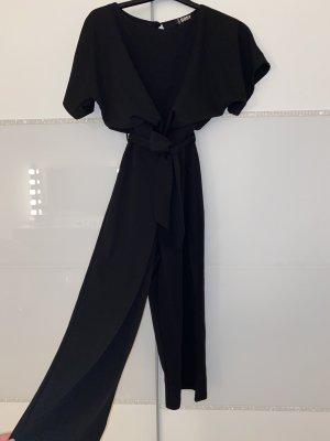 Jumpsuit mit Gürtel schwarz in 3/4Länge Neu mit Etikett