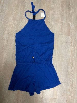 Jumpsuit neckholder swimwear cut out Romper blau gr. S