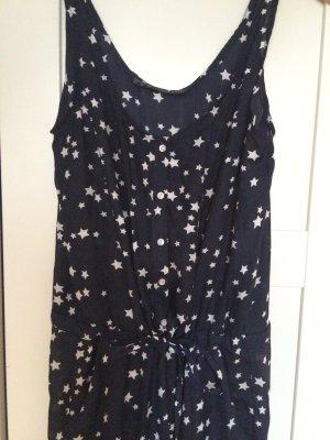 Jumpsuit Overall Sommer Zara Sterne black white dunkelblau