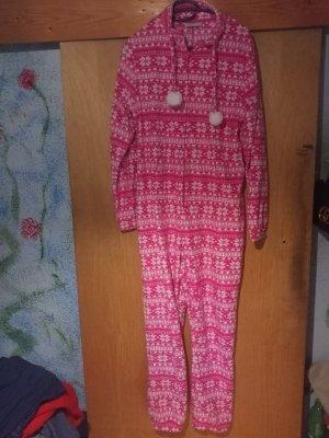 Jumpsuit pink mit Schneeflocken