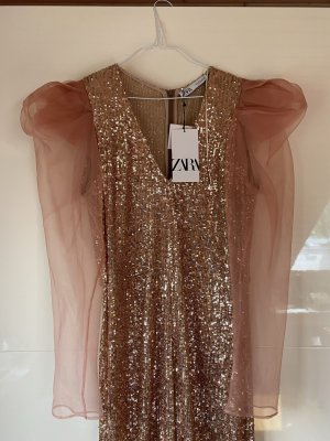 Jumpsuit Rose Gold Pailetten Zara