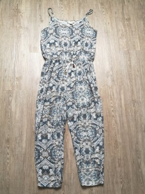 Jumpsuit S H&M blau Mandala weiß
