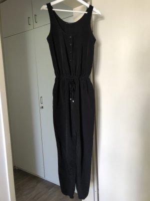 Jumpsuit schwarz aus fließendem Stoff Größe S