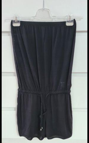 Jumpsuit trägerlos - schwarz - Größe 34 XS - neu - kurz