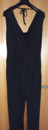 Jumpsuit,Vivance, mit tiefem V- und Rückenausschnitt, schwarz, Größe 40