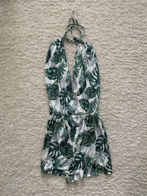 ASOS DESIGN Jumpsuit forest green-white polyester