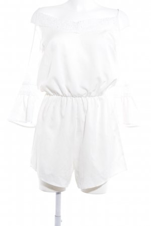 Jumpsuit weiß Elegant