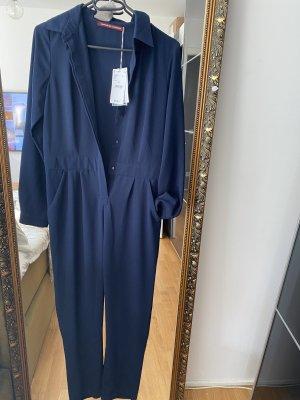 Jumpsuit XS blau Overall Einteiler