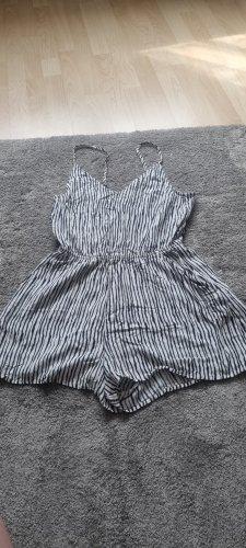 H&M Divided Jumpsuit white-black viscose