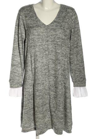 Junarose A-Linien Kleid hellgrau meliert Casual-Look