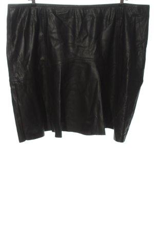 Junarose Jupe en cuir synthétique noir style décontracté