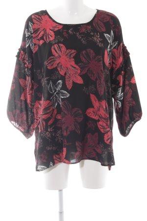 Junarose Langarm-Bluse florales Muster schlichter Stil