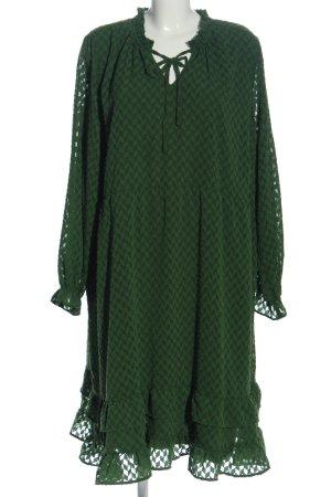 Junarose Langarmkleid grün Allover-Druck Casual-Look