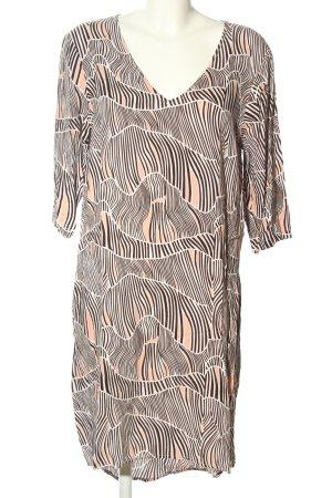 Junarose Midikleid braun-nude abstraktes Muster Casual-Look