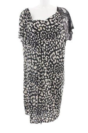 Junarose Minikleid schwarz-weiß Allover-Druck Casual-Look