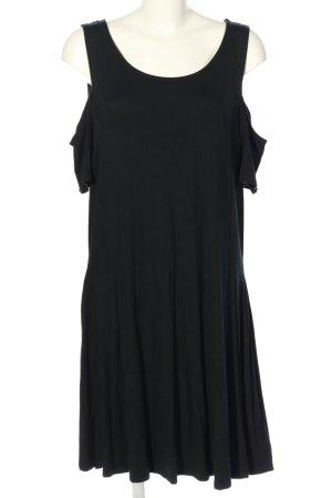 Junarose Shirtkleid schwarz Casual-Look