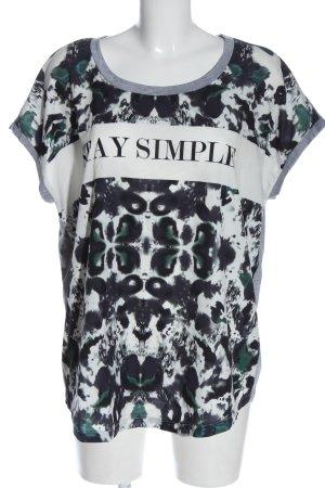 Junarose T-Shirt Motivdruck Elegant