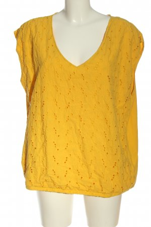 Junarose V-Ausschnitt-Shirt blassgelb Casual-Look