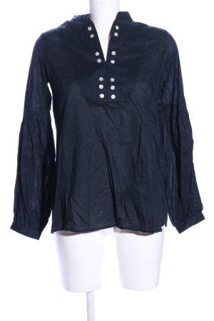 Hemd-Bluse schwarz Casual-Look