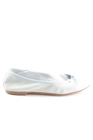 Junic faltbare Ballerinas hellgrau Casual-Look