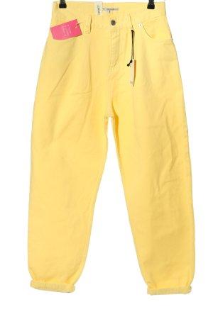 Junkyard Workowate jeansy bladożółty W stylu casual
