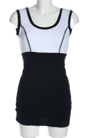 Jus d'Orange Minikleid schwarz-weiß Casual-Look