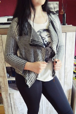 Just Addict Coarse Knitted Jacket anthracite-black