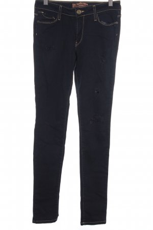 Just blue Skinny Jeans dunkelblau Destroy-Optik