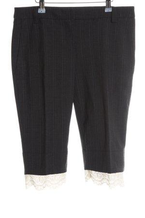 Just cavalli Pantalon 3/4 noir motif rayé élégant