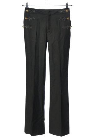 Just cavalli Pantalon de costume noir moucheté style décontracté