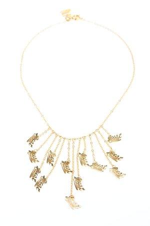 Just cavalli Collar estilo collier color oro letras impresas look casual