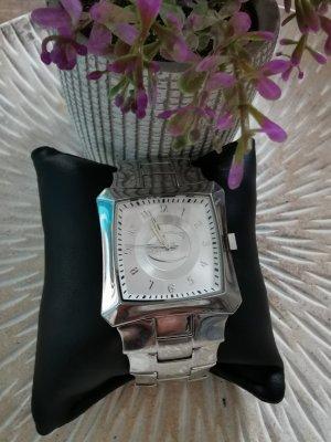 Just Cavalli Damenuhr Armbanduhr Edelstal Uhr silberfarben
