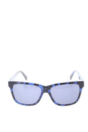 Just cavalli eckige Sonnenbrille schwarz-blau Allover-Druck Casual-Look