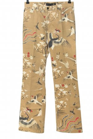 Just cavalli Five-Pocket Trousers brown allover print casual look