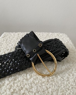 Just cavalli Cinturón trenzado negro-color oro