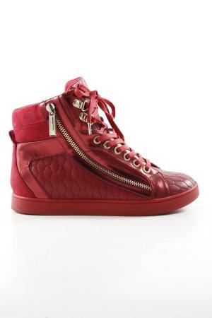 Just cavalli High Top Sneaker rot Steppmuster Casual-Look