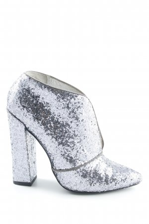 Just cavalli Hochfront-Pumps silberfarben Glitzer-Optik