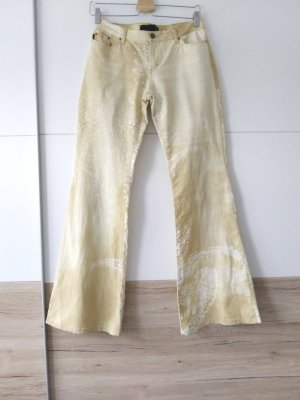 Just cavalli Jersey Pants gold-colored-oatmeal cotton