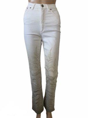 Just cavalli Jeansy o obcisłym kroju w kolorze białej wełny-biały