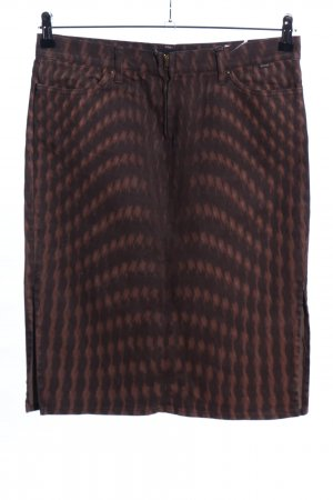 Just cavalli Denim Skirt brown abstract pattern casual look