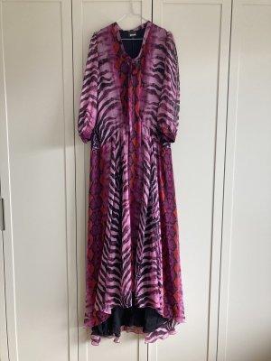 Just cavalli Robe de soirée multicolore soie