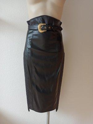 Just cavalli Falda de cuero de imitación negro