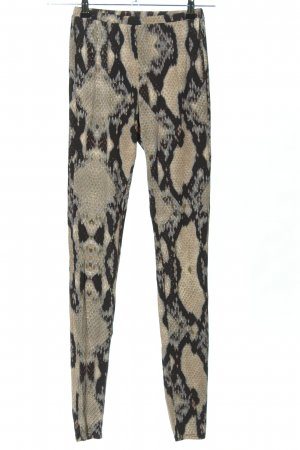 Just cavalli Leggings schwarz-wollweiß Allover-Druck Casual-Look