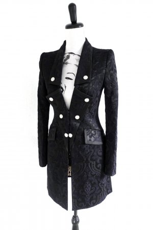 JUST CAVALLI Long Jacket Blazer Jacke Jacquard black – XS