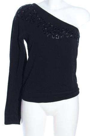 Just cavalli One-Shoulder-Shirt schwarz Elegant