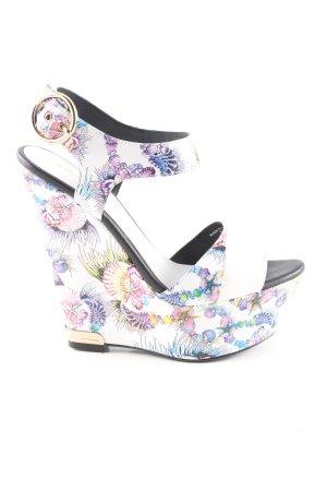 Just cavalli Platform High-Heeled Sandal allover print elegant